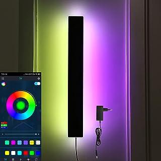 Smart RGB Wandleuchte LED Streifen Dimmbar Wandlampen Fernbedienung Wandbeleuchtung Innen Beleuchtung Bluetooth Eckleuchte...