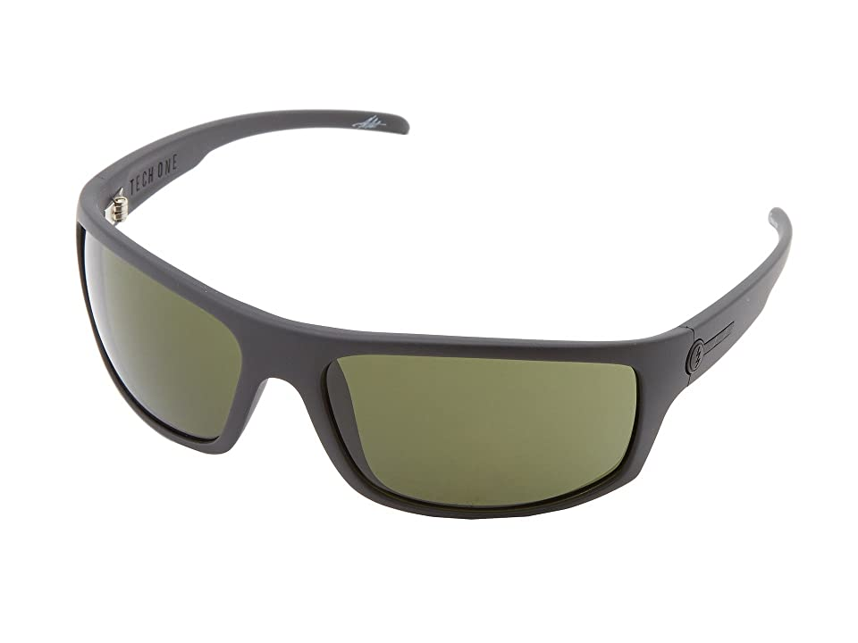 Electric Eyewear Tech One Polarized (Matte Black/M Grey) Plastic Frame Sport Sunglasses