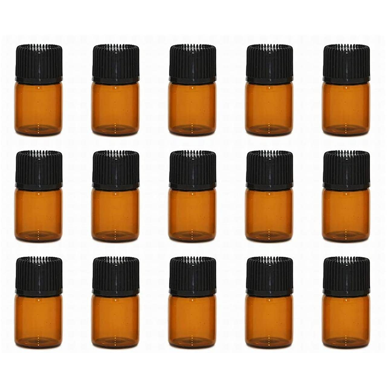 絶望右トラクターアロマオイル 精油 小分け用 遮光瓶 セット (1ml 20本 セット)