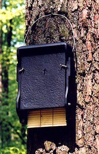 Schwegler Naturschutzprodukt Fledermaus Nistkasten Nisthöhle Fledermaushöhle 1FF mit eingearbeiteter Holzrückwand aus Holzbeton Höhe 43 cm