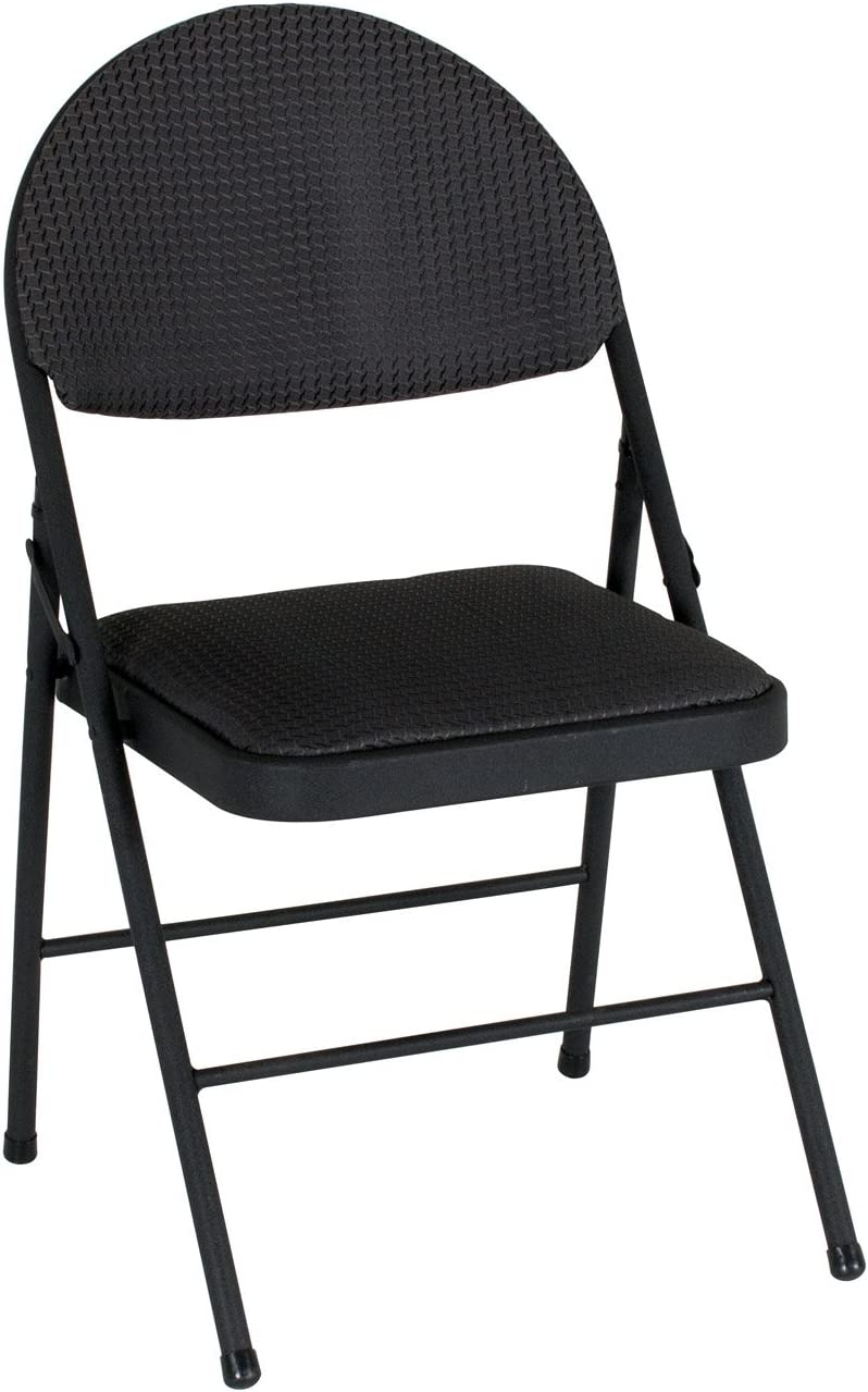 Cosco Outstanding Comfort Folding Chair Super-cheap Times 4 Pack