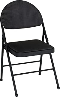 folding chairs black padded