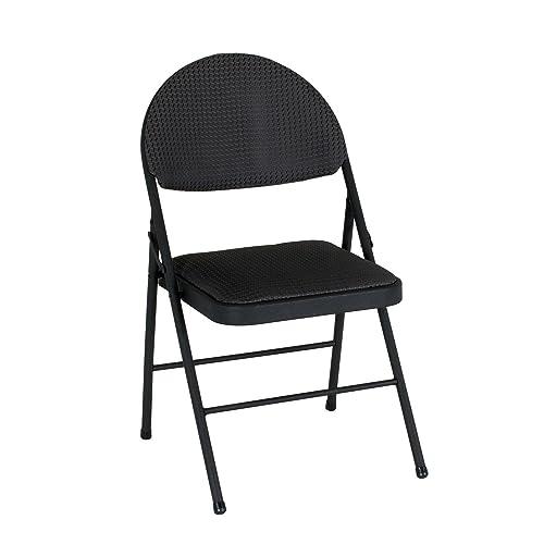 Awe Inspiring Amazon Com Cosco Xl Comfort Folding Chair Black Fabric 4 Pabps2019 Chair Design Images Pabps2019Com