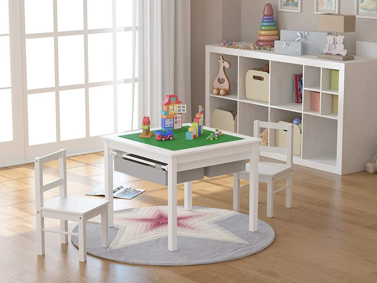 UTEX Table Set 2 in 1 Weiß with grau