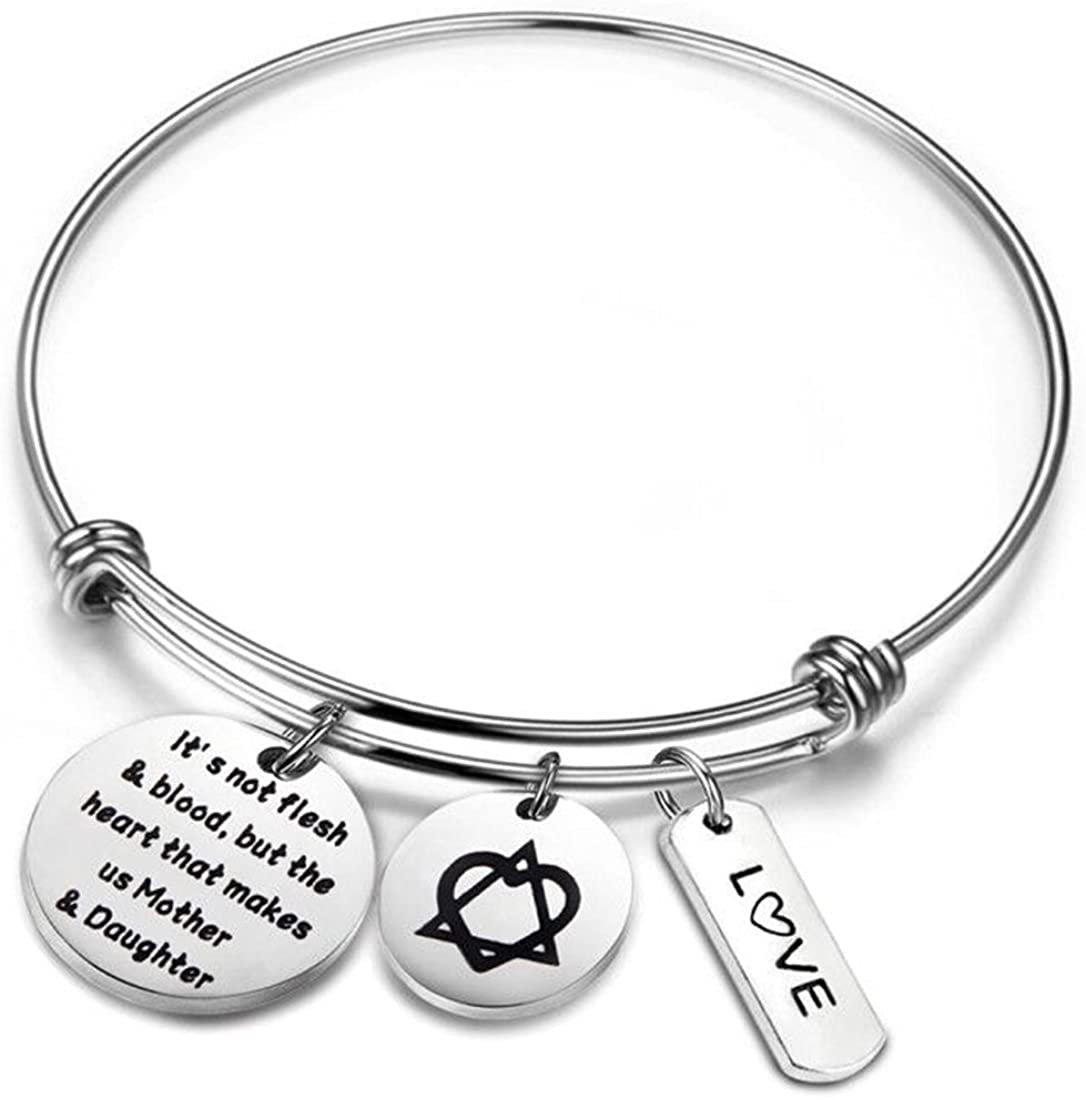 Adoption Bracelet Mommy Bracelet Charm Bracelet Baby Birth Bracelet Custom Bracelet Personalize Jewelry New Mom Bracelet Handstamped Jewelry