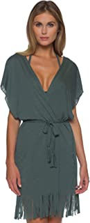 Breezy Basics Belted Fring Kimono Cover-Up