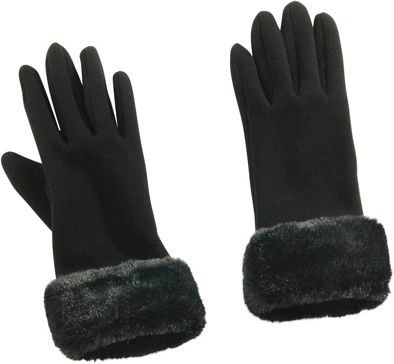 Faux-Fur Cuff Gloves