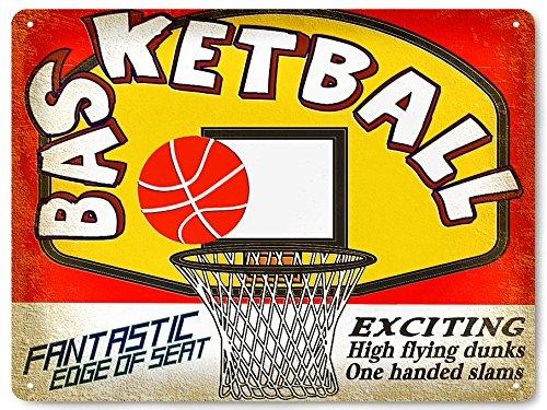 RETRO SIGNS BY J E MATRIX Basket NBA Plaque en métal/garçons Mancave Style Vintage Décoration Murale Art 349