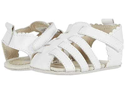 Robeez Lola First Kicks (Infant) (White) Girls Shoes