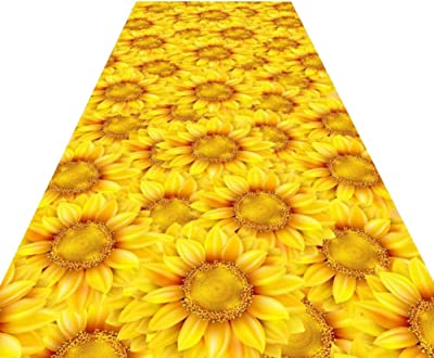 HAIPENG Sunflower Hallway Runner Rug Extra Long Entry Rugs Narrow Area Rugs with Non Skid Backing Carpet Customized (Color : A, Size : 1.6x2m)