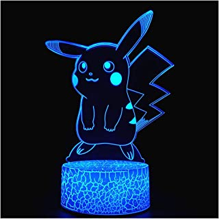 3D Optical Illusion Night Light, Visual Creative LED Desk Lamp Touch Control 7 Color Change USB Powered for Home Decorations or Holiday Gifts (3D Animal)