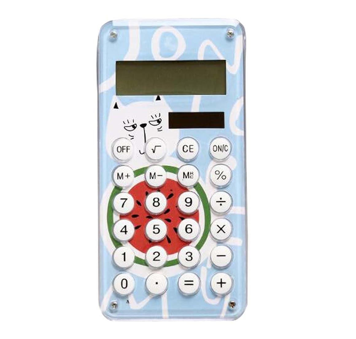 区別液化する強大なスリムな電卓デスクトップ環境にやさしいソーラー電卓8桁のディスプレイ - A2
