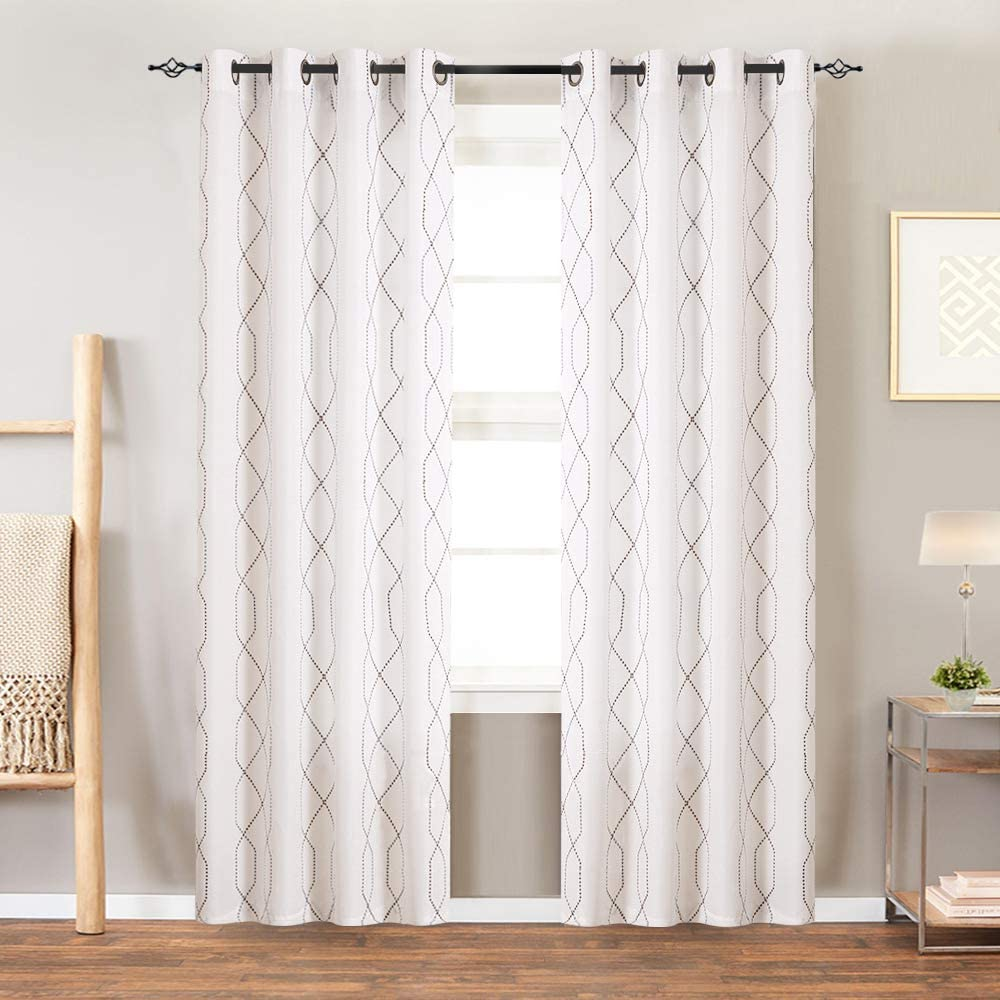 JINCHAN Room Darkening Embroidered Curtains Sales Living Las Vegas Mall Grom for