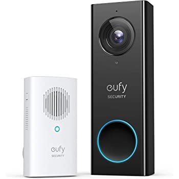 eufy Security, Wi-Fi Video Doorbell, 1080p-Grade Resolution, No Monthly Fee, Secure Local Storage, Human Detection, 2-way Audio, Free Wireless Chime-Requires Existing Doorbell Wires
