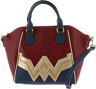 Wonder Woman Saffiano Faux Leather Crossbody Bag