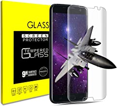 Screen Protector For Samsung Galaxy S7 Edge, Tempered Glass Screen Protector, [Bubble-Free] [9H Hardness] [Anti-Scratch] HD Clear Film Screen Protector for Galaxy S7 Edge