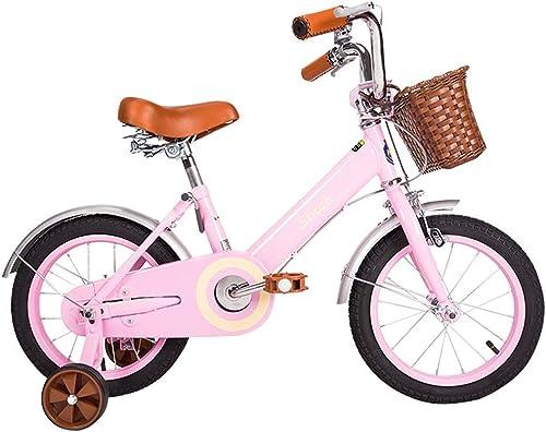 solo cómpralo HYCy Bicicleta para Niños de de de 12 14 Pulgadas. Bicicleta de 3-4-5-6-7 años con Rueda Auxiliar, Cuadro de Acero de Alto Carbono.  producto de calidad