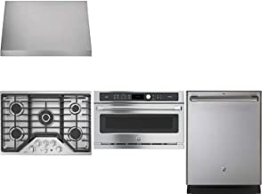 GE Cafe 4-Piece Stainless Steel Kitchen Package CGP9530SLSS 30