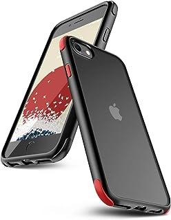 【ONES】 iPhone SE(2020)/8/7/6s/6 ケース 耐衝撃 エアバッグ 超軍用規格 美しい 〔半透明·黒·マット感·頑丈な背面+柔軟なTPUバンパー〕〔持ちやすい、滑り止め、すり傷防止、指紋や汗防止〕 Qi充電 DIY カバー