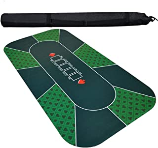 10 Player Texas Hold'Em Tablecloth, Digital Printing Suede Rubber Pad, Large Size Thicker Material Easy Clean, for Chess R...