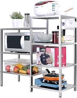 QFF Cocina de acero inoxidable estante/estante/horno multifunción horno de microondas estante/alacena