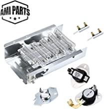 AMI PARTS 279838 Dryer Heating Element & 3977767 & 3392519(2PCS) Thermal Fuse & 3387134 & 3977393 Thermostat Replacement Part Compatible with whirlpool Kenmore Samsung Dryers