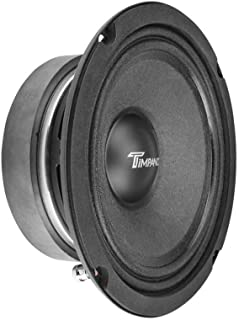 $34 » TIMPANO TPT-MD6 6.5 Inch Midrange Speaker for Pro Car Audio, 8 Ohms, 150 Watts RMS Power, 300 Watts Continuous Power, 1.5 ...