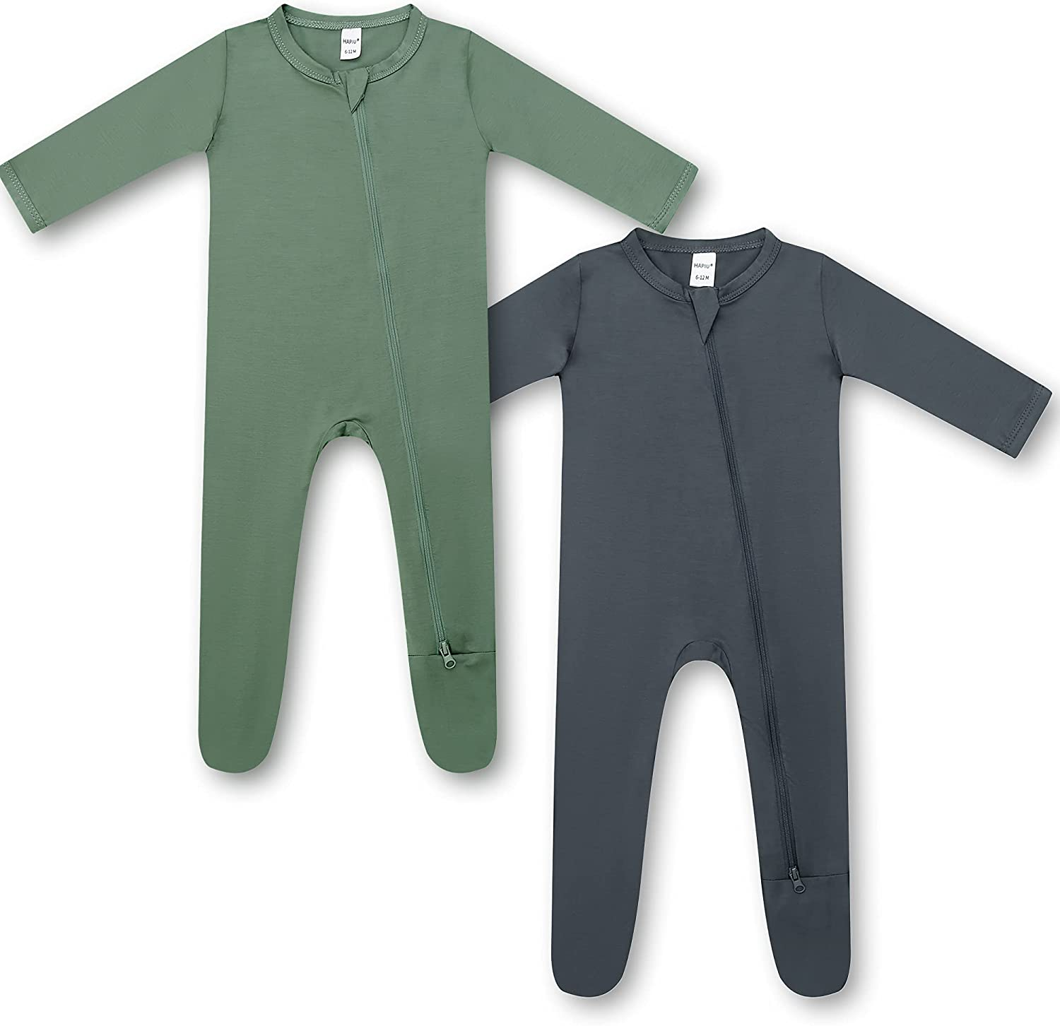 HAPIU Bamboo Baby Footed Pajamas 2 'N New Orleans Special price for a limited time Mall Front Zip Play Sleep Way