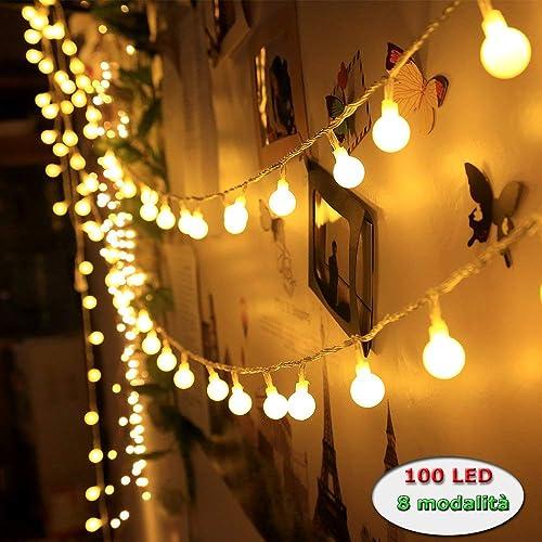 Innoo Tech - Guirnalda Luces 10M 100 LED Cadena de Iluminacion Bombillas Blanco Cálido Decoración,