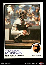 1973 Topps # 142 Thurman Munson New York Yankees (Baseball Card) Dean's Cards 5 - EX Yankees