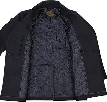 reproduccion del US Navy Peacoat Color Negro Abrigo//Chaqueton de lana