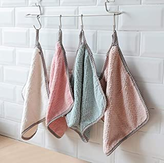 Demana Kitchen Cleaning Cloth Glass Window Dishcloth Car Cleaning Rags Multifunction Absorbent Washing Bowl Towel Coral Ve...