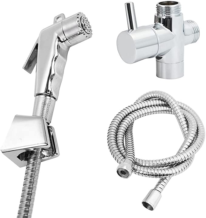 Hand Held Bidet Spray Douche Shower Head Sprinkler WC Toilet Home Adapter Hose