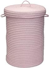 "Colonial Mills Ticking Stripe Solids Hamper, 18"" x 18"" x 30"", Pink"