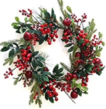 The Christmas Cart 60cm Large Apple and Red Berry Christmas Wreath | Also Available as a Small Wreath, Garland, Spray or P...