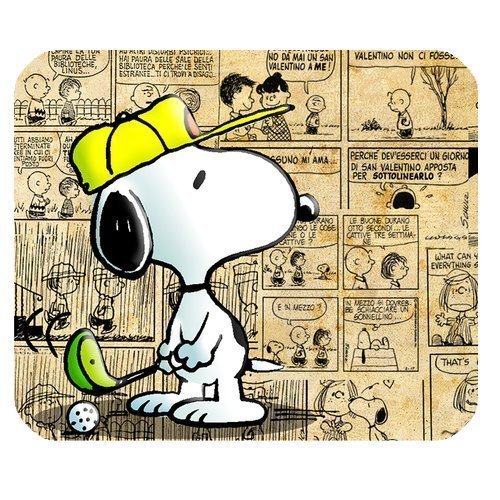Snoopy Personalized Custom Gaming Mousepad Rectangle Mouse Mat / Pad Office Accessory And Gift Design-LL841
