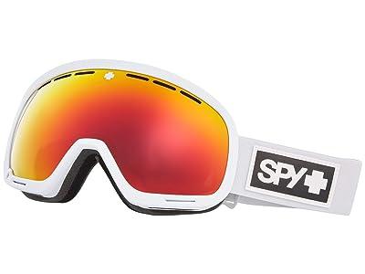Spy Optic Marshall (Matte White Hd Plus Bronze w/ Red Spectra Mirror + Hd Plus Ll) Snow Goggles
