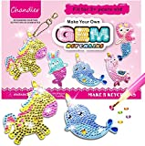 Chandler Creativity Big Gem Diamond Painting Keychain Kit for Kids - Create Your Own Magical Stickers - Diamond Art for Girls Kids Toddler Ages 3-12