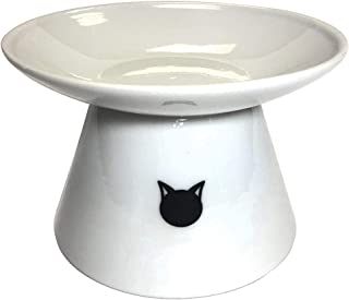 Binkies Pet Supply Elevated Cat Bowl - Raised Porcelain Dish - Perfect for Wet and Dry Cat Food