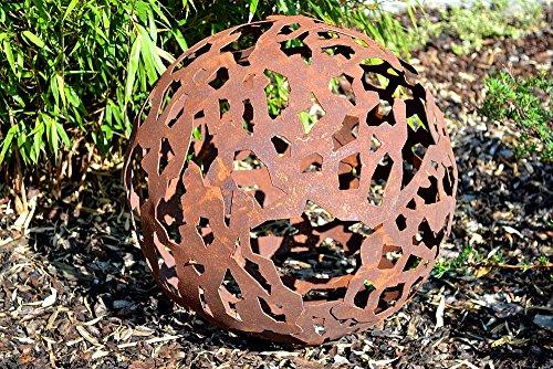 Kugel Gartenkugel Dekokugel Metall Rost Edelrost Rostkugel Rostdeko Deko Dekoration Deko-Idee Gartendeko Geschenk-Idee Geschenk