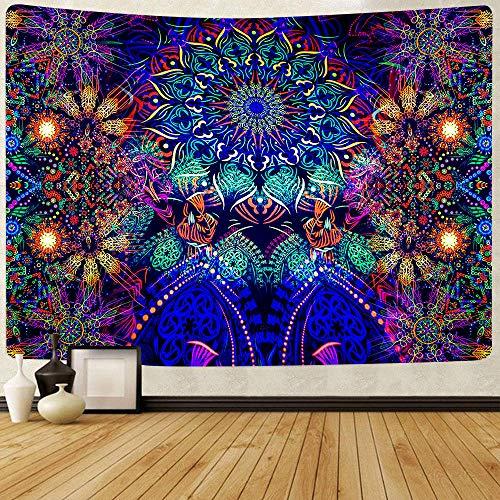 Tapiz de peces y medusas Arte de verano Tapices para colgar en la pared para la decoración del hogar de la sala de estar 150x180cm
