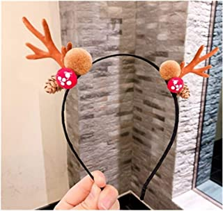 XLEIYI Headband Christmas moose headband small antlers headband headdress female hairpins elf super fairy street hair accessories five styles optional (Style : C)