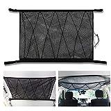 VVHOOY 車内天井収納ネット 天井ラゲッジネット ロッドキャリー 車用 車内天井収納 車載強力ネット 収納に便利 調整可能 荷物落下防止90 * 65cm