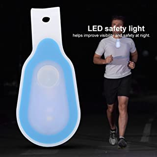 2pcs Hand Free LED Flashlight Clip On to Clothing LED Magnet/Magnetic Lights Mini Night Light Running Button Silicone Clip Lamp for Camping, Hiking, Dog Walking, Running, Climbing