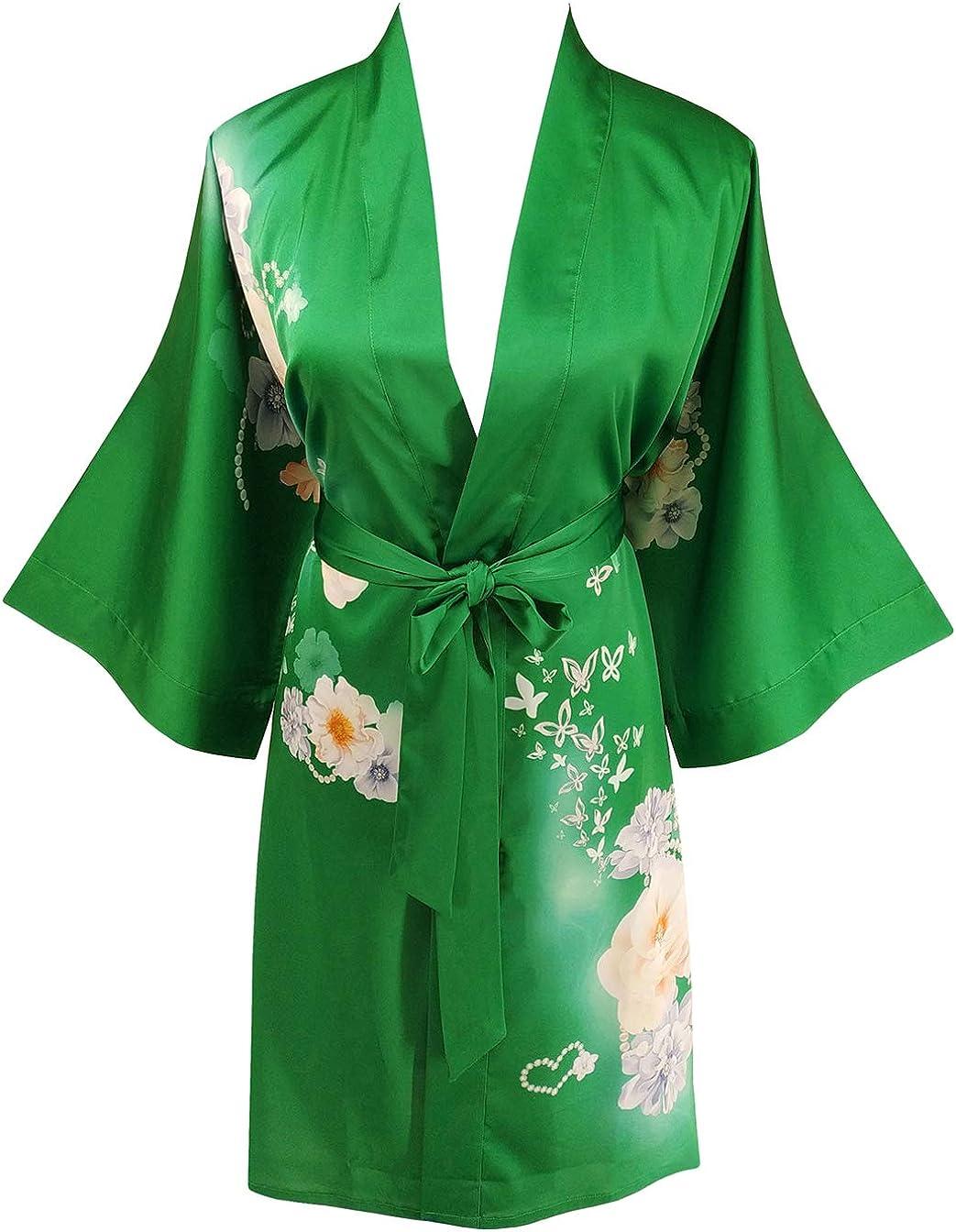 Ledamon Women's Kimono Short Max 79% OFF Super sale period limited Robe - Classic Bathrobe Nigh Floral