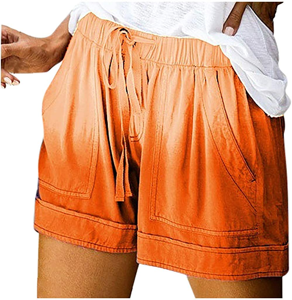 VEKDONE Women Casual Shorts Tie Dye Printed Drawstring Elastic Waist Comfy Pajamas Summer Beach Shorts Plus Size