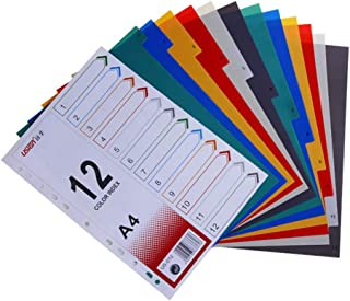 STOBOK A4 Binder Dividers Colored Index Tabs Page Markers for Notebook Memo,Monthly Dividers,1 Set