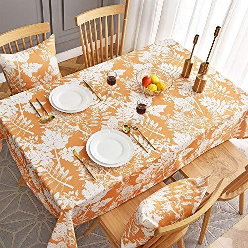 shiyueNB Waterdicht gedrukt tafelkleed Amerikaanse stijl eettafel doek rechthoekige restaurant cover doek 135 * 220 Orange Leaves Without Lace