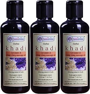 Khadi Rishikesh Lavender & Ylang Ylang Massage Oil Combo Set Pack Of - 210ml X 3 (630ml)