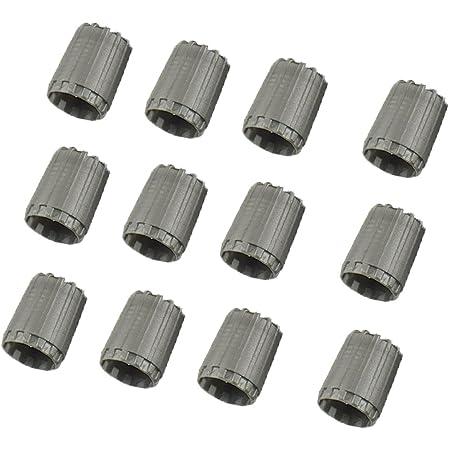Kesoto 12 X Ventilkappen Reifen Ventilkörper Abdeckungen Für Reifendruckkontrollsystem Standard Tpms Ventil Grau Auto